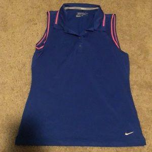 Nike golf collared tank top